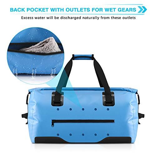 Gonex 40L 60L 80L Large Waterproof Duffel, Durable Travel Dry Duffle Bag for Kayaking Boating Rafting Fishing Outdoor Adventure