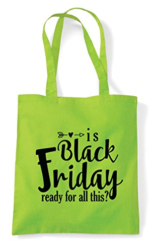 This Black Bag Lime Shopper All Is Friday Statement Ready Tote For APUqT