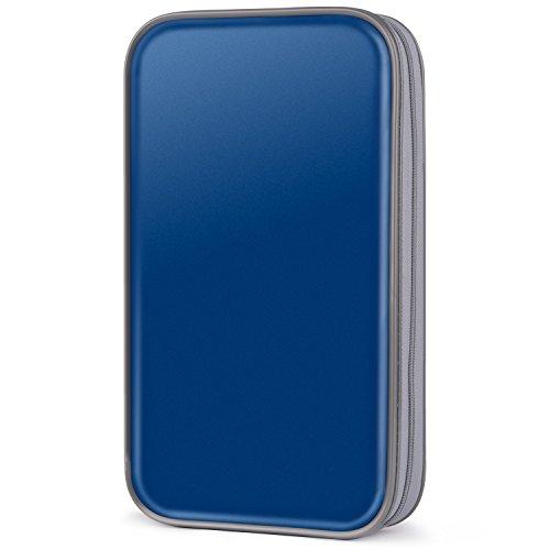 CD Case,COOFIT 80 Capacity DVD Storage DVD Case VCD Wallets Storage Organizer Flexible Plastic Protective DVD Storage - Cd Book Organizer
