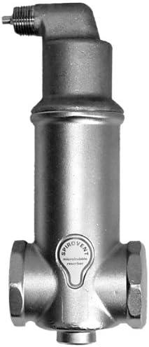 Spirovent VJR 150 TM Spirovent Junior Threaded 1-1//2 Air Eliminator with Tank Mount