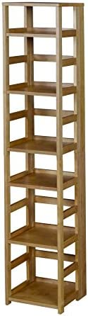 Niche Flip Flop Square Folding Bookcase, 67-inch, Medium Oak
