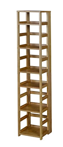 Niche Flip Flop 67'' High Square Folding Bookcase, Medium Oak by Niche