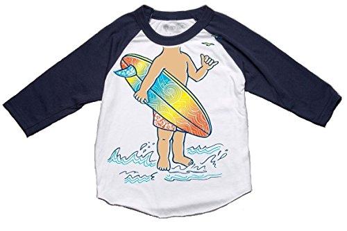 (Peek-A-Zoo Toddler Become an Animal 3/4 Sleeve Raglan - Surfer Navy -)