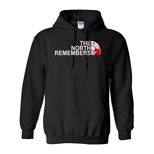 The North Remembers Unisex Hoodie (Black, Medium)