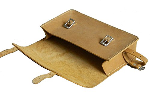 Bicycle frame bag genuine leather vintage bag small pouch tool kit tan - Vintage Frame Bag
