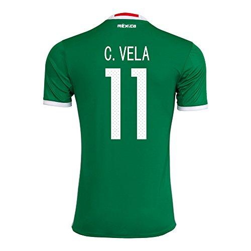 懐疑的描写マーティフィールディングC. VELA #11 Mexico Home Jersey COPA America Centenario 2016(Authentic name & number)/サッカーユニフォーム メキシコ ホーム用 C.ベラ