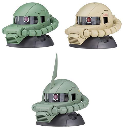 Gashapon Mobile Suit Gundam Exceed Model Zaku Head 5 Set
