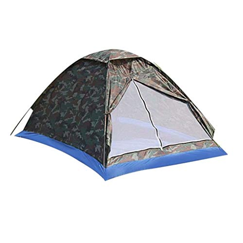 Gbyao Tent Outdoor Portable Beach Tent Camouflage Camping Tent Suitable for 2 People Single Layer Polyester Cloth Tent PU1000mm Carrying case Travel