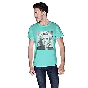 Creo Marilyn Monroe T-Shirt For Men - L, Green
