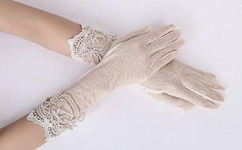 formanism エレガント レース使い 夏用 紫外線カット 外出 日焼け防止 サマー手袋 レディース (C)