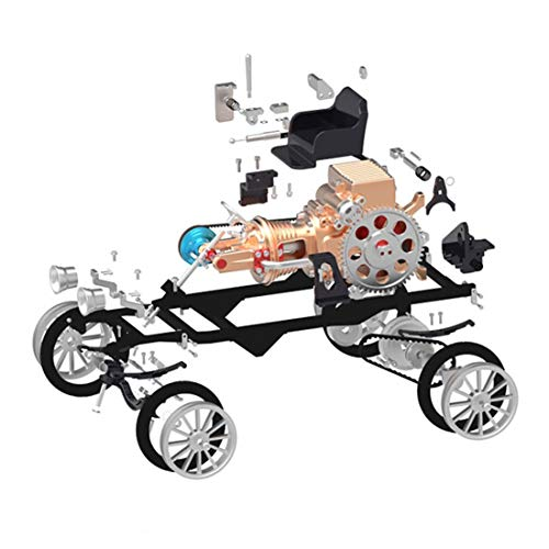 YAGEER DIYAlloy Car All-Metal Single-Cylinder Engine High Challenge Simulation Mini Car Assembly Model Toy Gift Set for…