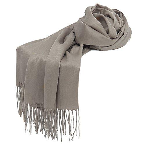 Dabixx Envuelve Hijab para Bufanda Invierno Chal borlas Mujer 9 otoño pañuelo Largo 31 Pashmina sólido qWqAnr5p