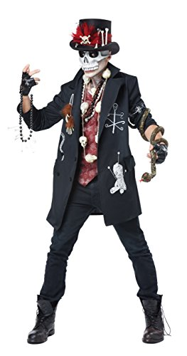 California Costumes Men's Voodoo Dude, Black/Burgundy,