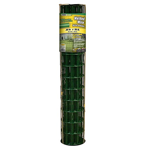 YARDGARD 308351B 2 Inch by 3 Inch Mesh, 36 Inch by 50 Foot 16 Gauge PVC Coated Welded Wire Fence