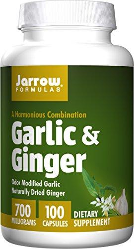 Ginger 100 Capsules (Jarrow Formulas - Garlic + Ginger, 700 mg, 100 capsules)