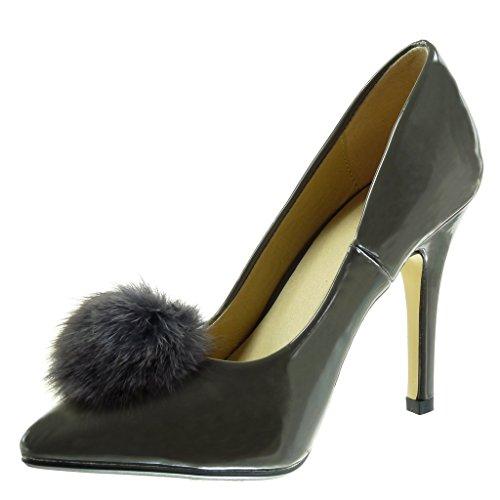 Angkorly Damen Schuhe Pumpe - Stiletto - Dekollete - Bommel - Patent Stiletto  High Heel 10 ...