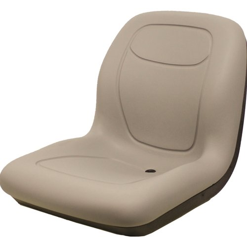 MILSCO Universal XB180 Gray Vinyl Seat with Multiple Mounting Patterns