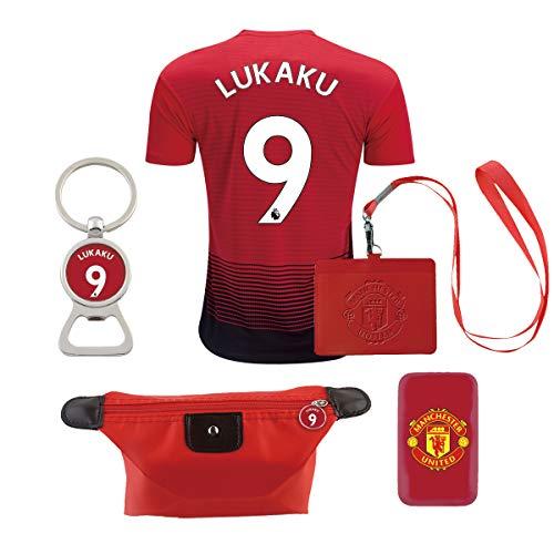 EE bestort Manchester United #9 Lukaku 2018/2019 Home Mens Soccer Jersey Color Red (Large)