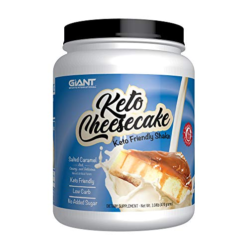 Keto Cheesecake - Delicious Low Carb Ketogenic Diet Friendly Gluten Free Shake Mix - Salted Caramel - 20 Servings