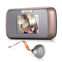 "Peephole - SODIAL(R)2.8"" TFT CMOS Peephole Doorbell IR Viewer Door Camera Night Vision"