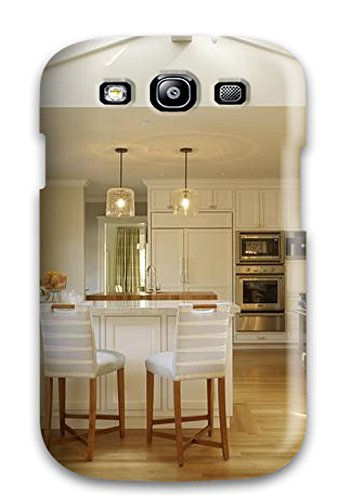Hot New Contemporary White Kitchen With Vaulted Ceiling Amp Skylight Plus White Cabinets Amp Pendant Lights Case Cover For Galaxy S3 With Perfect Design