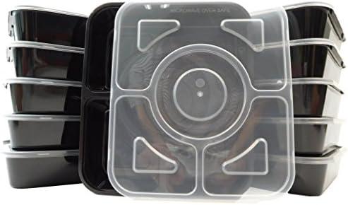 Juego de 300 cajas de almuerzo Bento con tapas (4 compartimentos ...