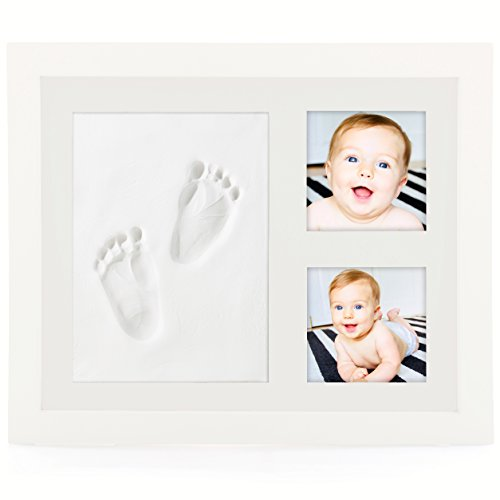 NEW & ENHANCED Baby Handprint Kit by BABY LEON - Premium Baby Picture Frame | Best Baby Shower Gifts for Girls & Boys | Footprint Keepsake for Newborns | Cute Paw Prints | Mold-free Nontoxic Clay