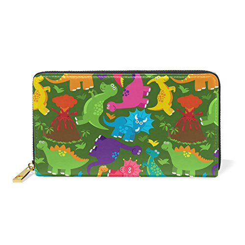 Dinosaur Handbags Organizer Wallet And Womens Clutch Purses TIZORAX Zip Around Udq4U