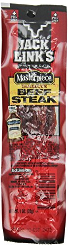 Jack Link's Premium Cuts Beef Steak, KC Masterpiece Barbecue, 1-Ounce (Pack of ()