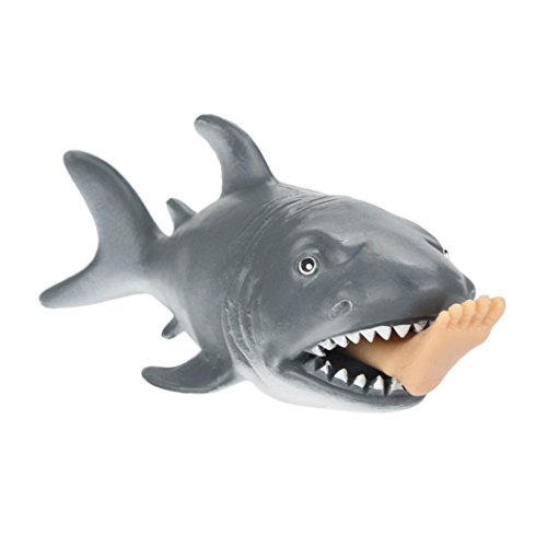 Livoty Squeeze Toy, 12cm Funny Toy Shark Squeeze Stress Ball Alternative Humorous Light Hearted New (A)