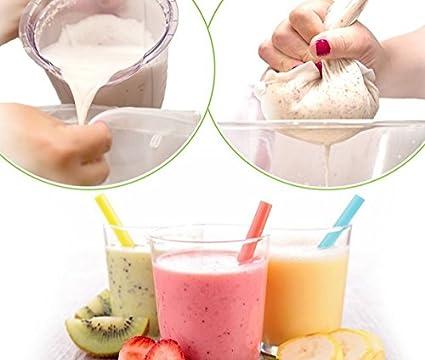 Compra Premium Nogal Leche Bolsa/ - Trapo para hacer leche vegana alternativas de 100% nailon, mejor calidad, para hacer de Natural y saludable Leche y ...