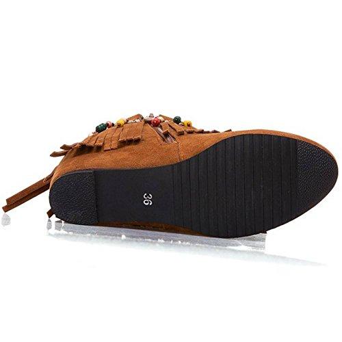 Bohemia KemeKiss Yellow Boots Ankle Zip Women wx6IS