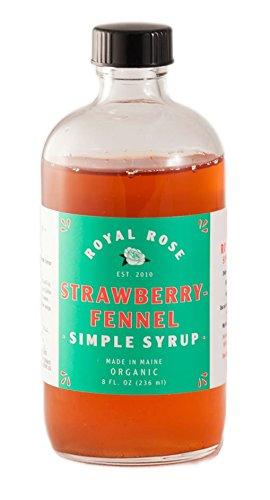 Royal Rose Strawberry Fennel Simple Syrup 8oz
