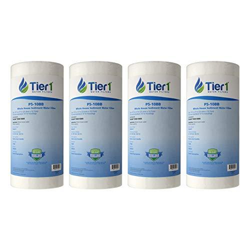 Tier1 Replacement for Pentek DGD-5005 5 Micron 10 x 4.5 Spun Wound Polypropylene Sediment Water Filter 4 -