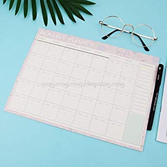 Amazon.com: Monthly Paper Pad 20 Sheets DIY Planner Desk ...