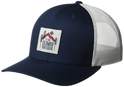 Columbia Mesh Hat - Columbia Men's Mesh Snap Back Hat, coll Navy Evergreen Patch, O/S