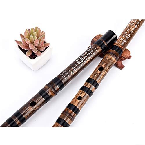 (Bamboo flute exam Black Beginner Flute Professional Music Solo Performance Flute Flute with CDEFG Five Tones Best Musical Instrument Gift Fife (Color : Black, Size : F key532.22.2cm))