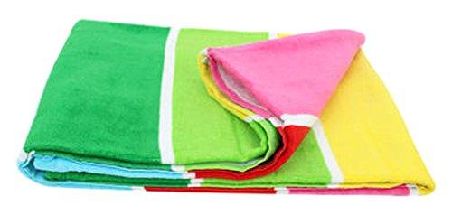 BKB Bright Multi Colored Beach Towel
