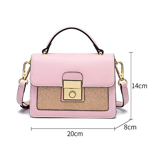 Brillant Mode Bag à UEJDB Pink Mode Main Sac à Bag Large Girl Sac à à Main Bandoulière Petit La Sac Messenger Girl CRORx5Y