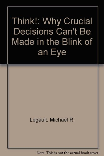Think!: Why Crucial Decisions Can't Be Made in the Blink of an Eye by Simon & Schuster Audio