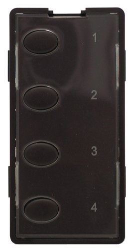4O-BN Custom Series Oval 4-Button Faceplate, Brown ()
