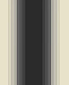 Fine decor zara stripe wallpaper black cream fd13986 for Black and cream wallpaper