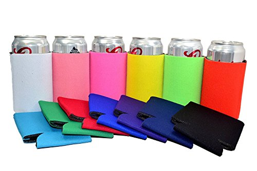 Water Bottle Koozies - QualityPerfection 13 Multicolor Party Drink Blank Can Coolers Blank Beer,Soda Coolies Sleeves   Soft,Insulated Coolers   30 Colors   Perfect For DIY Projects,Holidays,Events