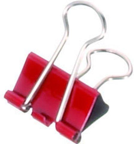 Foldback-Klemmer mauly, 19 mm, 12 St./Ktn., rot