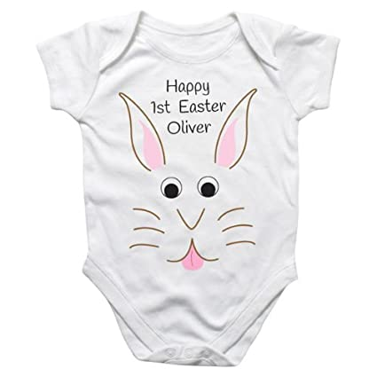 f3b97f037 Easter Bunny Personalised Baby Grow: Amazon.co.uk: Kitchen & Home