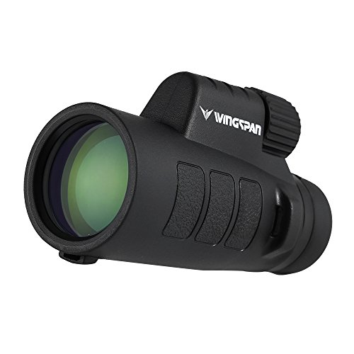 Wingspan Optics ProSpotter 10X42 Compact Monocular Scope. New Advanced PrismView Optics Creates Spectacularly Crisp, Brilliant Viewing Experience. Compact and Lightweight. One Hand Focus. Waterproof. by Wingspan Optics