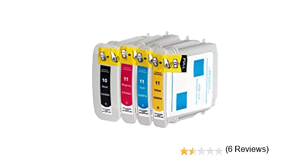 4x Compatible Cartuchos de tinta con Hp 10 XL HP 11 XL para HP Officejet 9100 Serie 9110 9120 Business Inkjet 1000 1100 1200 1200d 1200dn 1700C 1700CP 2000C 2000CN 2200 Serie