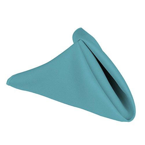 LinenTablecloth 17-Inch Polyester Napkins (1-Dozen) Turquoise (Napkin Turquoise)