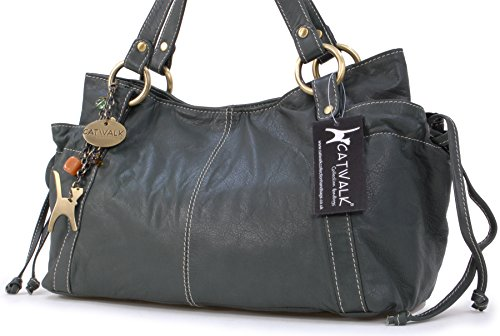 Catwalk Collection Leather Tote Green Mia Bag ddr4x1