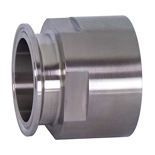 Dixon 22MP-R15075 Stainless Steel 316L Sanitary Fitting, Clamp Adapter, 1-1/2'' Tube OD x 3/4'' NPT Female by Dixon Valve & Coupling